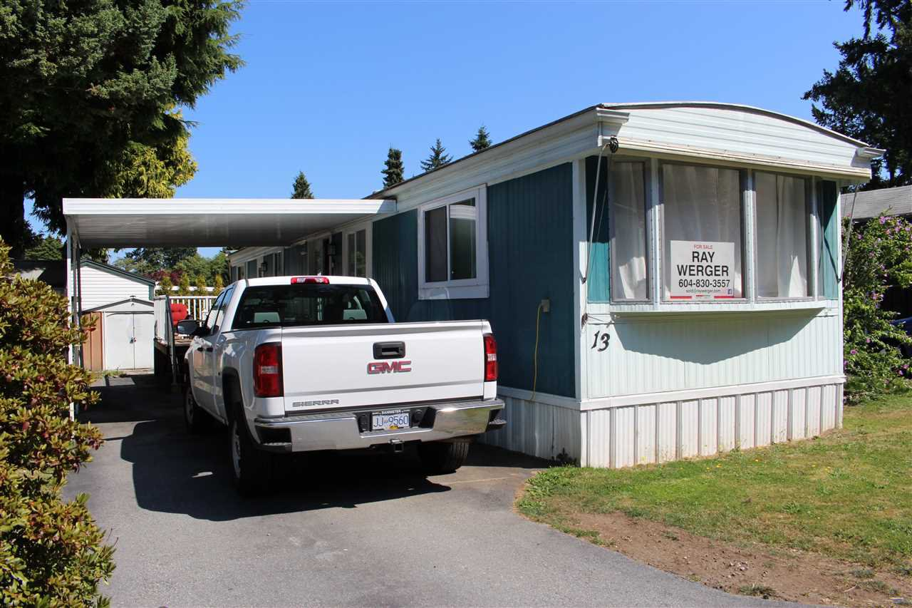 """Main Photo: 13 7790 KING GEORGE Boulevard in Surrey: East Newton Manufactured Home for sale in """"CRISPEN BAYS"""" : MLS®# R2394101"""