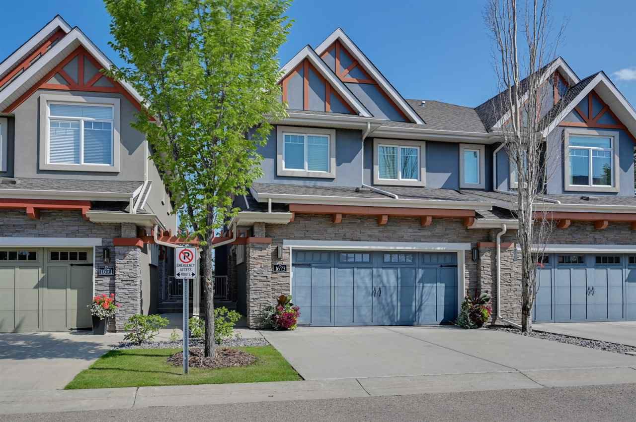 Main Photo: 1673 JAMES MOWATT Trail in Edmonton: Zone 55 House Half Duplex for sale : MLS®# E4200664