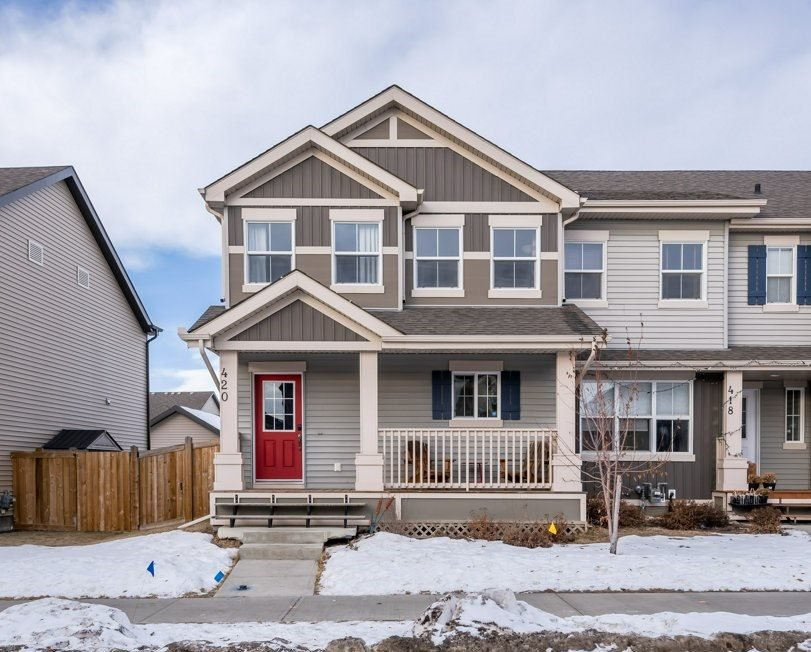 Main Photo: 420 Watt Boulevard in Edmonton: Zone 53 House Half Duplex for sale : MLS®# E4224836