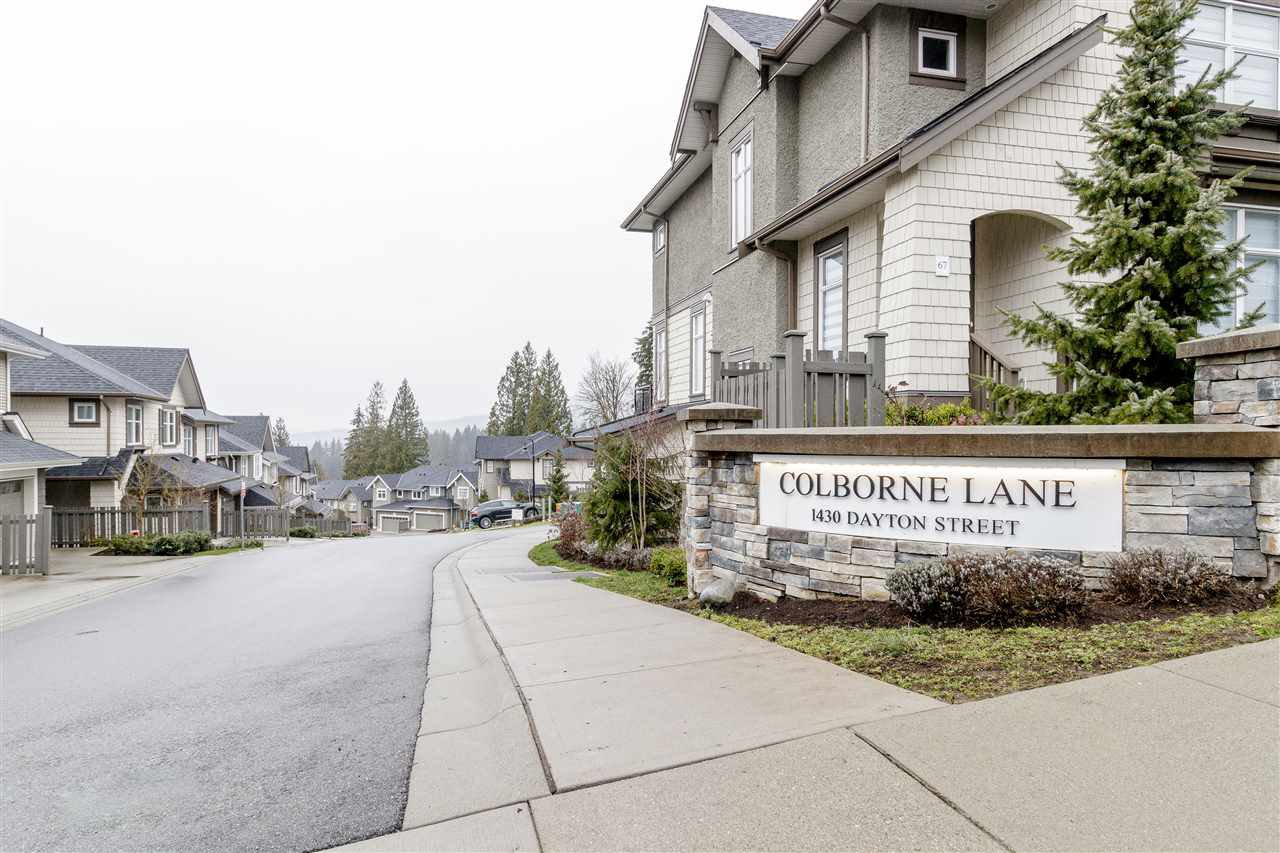 """Main Photo: 81 1430 DAYTON Street in Coquitlam: Burke Mountain Townhouse for sale in """"COLBORNE LANE"""" : MLS®# R2445666"""