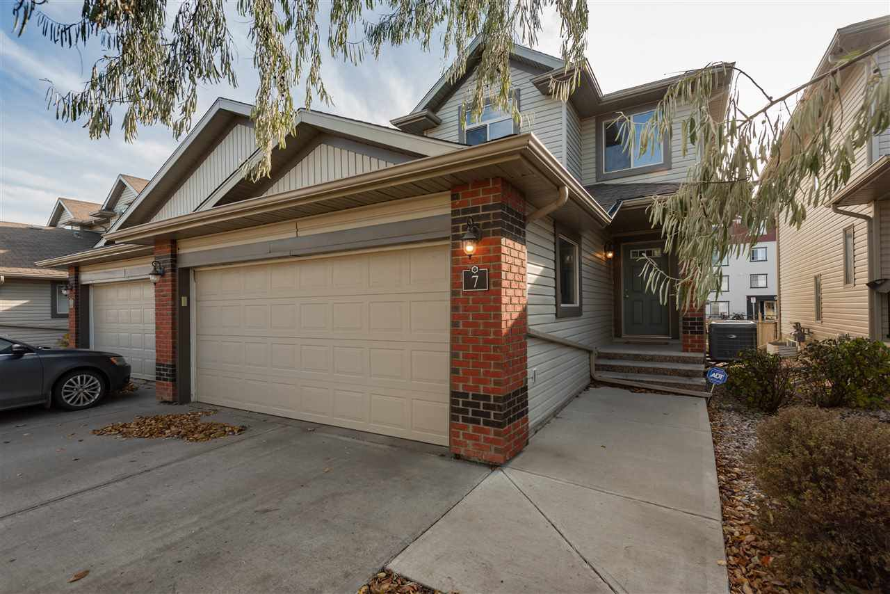 Main Photo: 7 1128 156 Street in Edmonton: Zone 14 House Half Duplex for sale : MLS®# E4177540