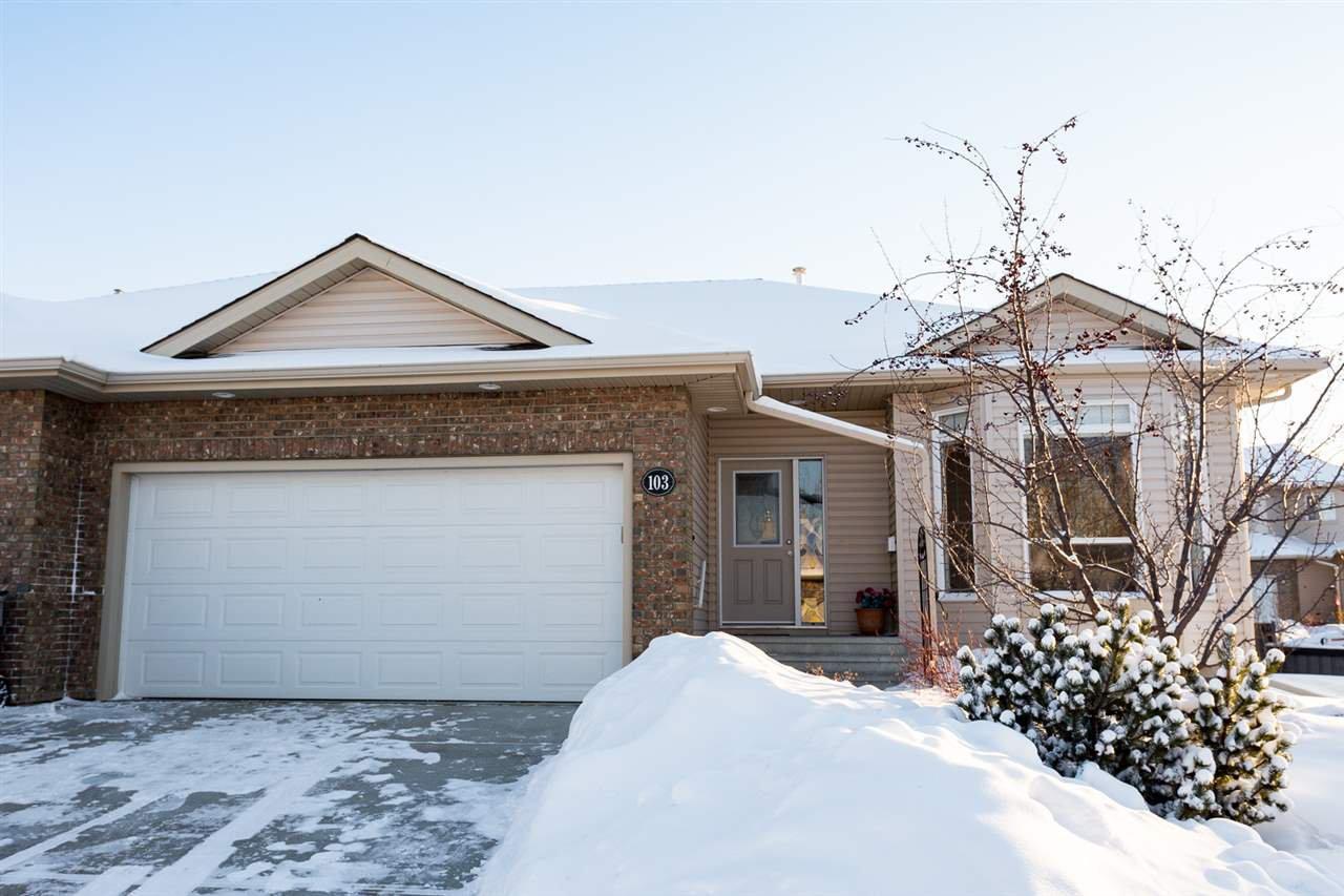 Main Photo: 103 WESTERRA Terrace: Stony Plain House Half Duplex for sale : MLS®# E4172130