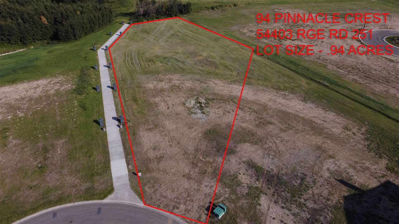 Main Photo: 94 PINNACLE Crest: Rural Sturgeon County Rural Land/Vacant Lot for sale : MLS®# E4211102