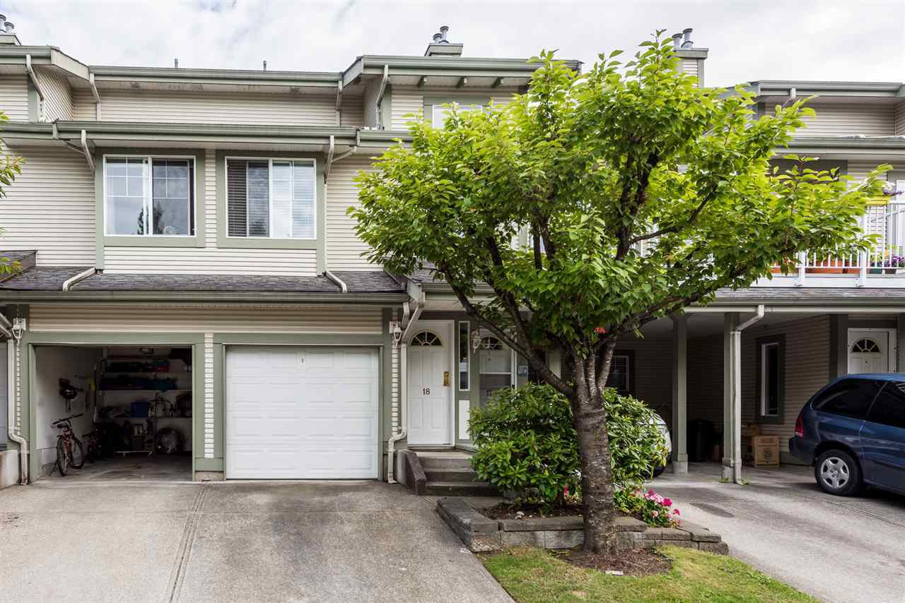 "Main Photo: 18 8892 208 Street in Langley: Walnut Grove Townhouse for sale in ""HUNTER'S RUN"" : MLS®# R2413622"