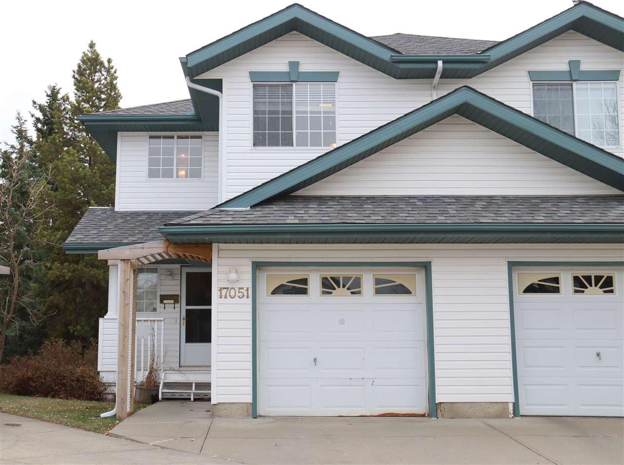 Main Photo: 17051 113 Street in Edmonton: Zone 27 House Half Duplex for sale : MLS®# E4189910