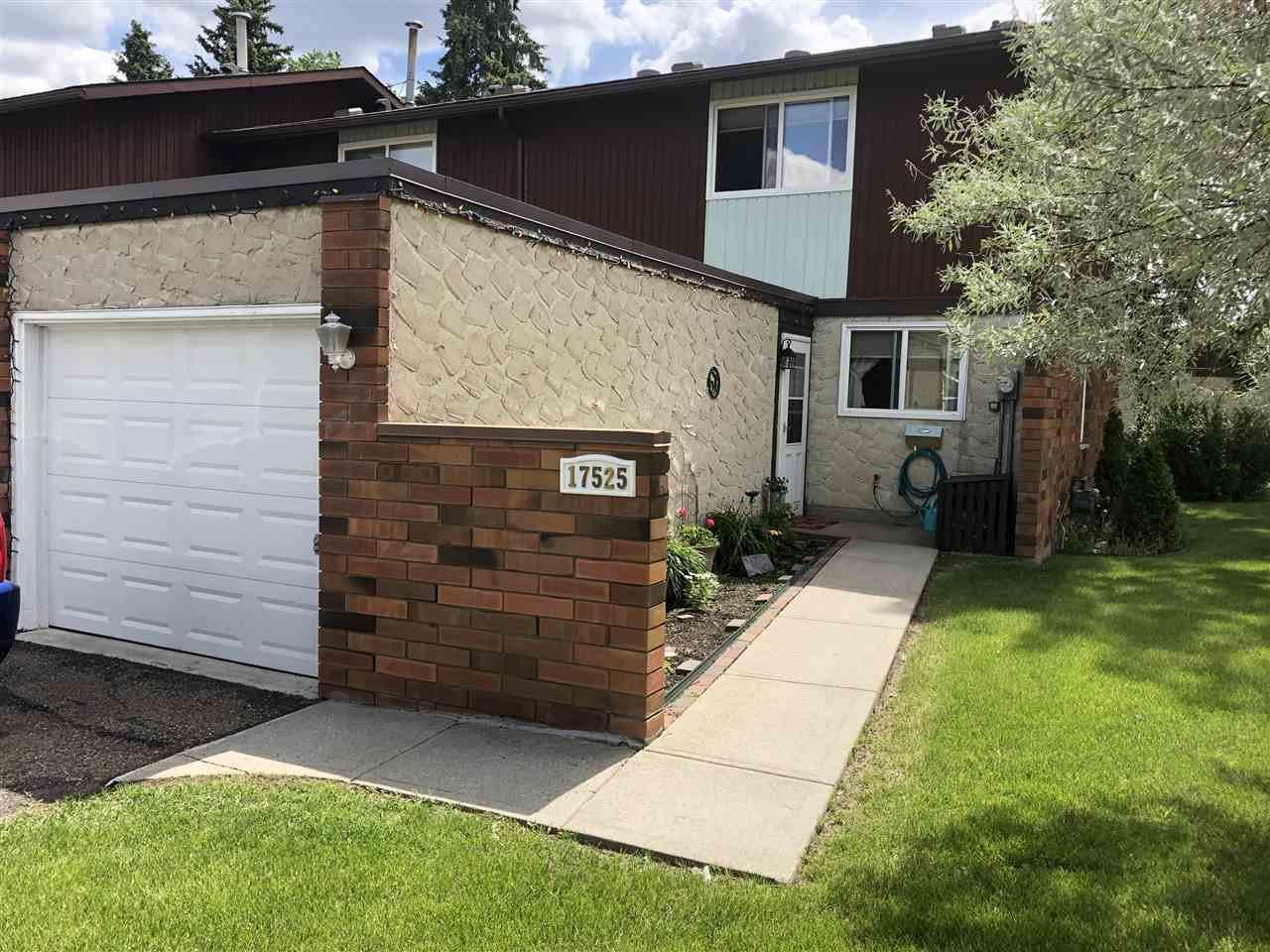 Main Photo: 17525 77 Avenue in Edmonton: Zone 20 Townhouse for sale : MLS®# E4166599