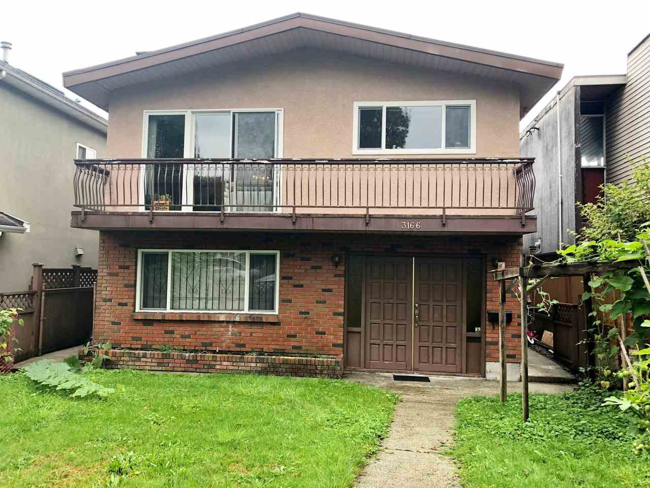 Main Photo: 3166 E 1ST Avenue in Vancouver: Renfrew VE House for sale (Vancouver East)  : MLS®# R2405003