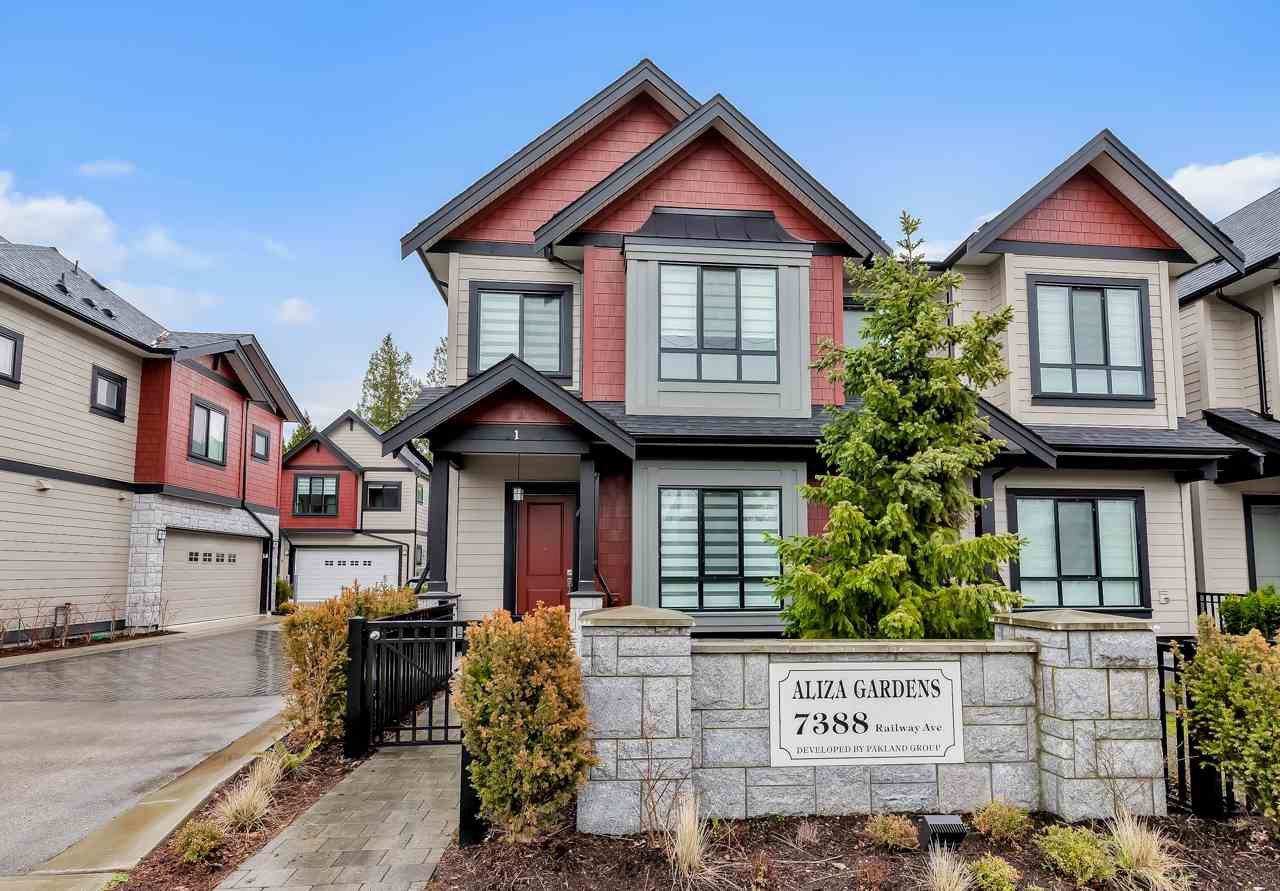 Main Photo: 1 7388 RAILWAY Avenue in Richmond: Granville Townhouse for sale : MLS®# R2517631