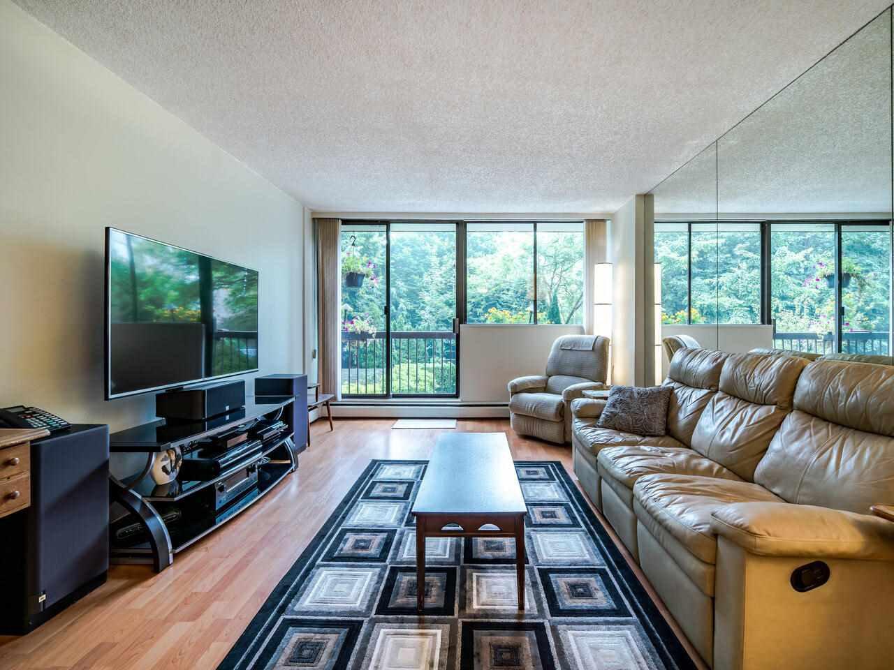 Living room has access to balcony