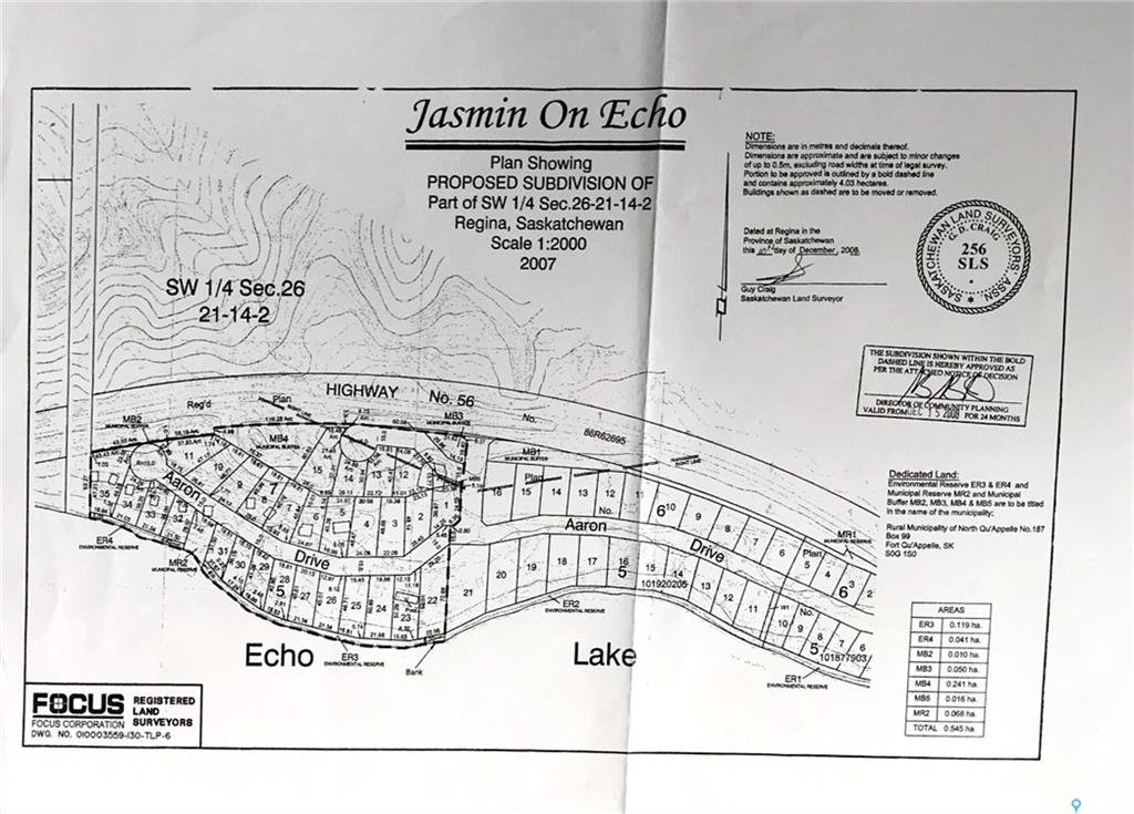Main Photo: Lot 10 Aaron Drive in Echo Lake: Lot/Land for sale : MLS®# SK806346
