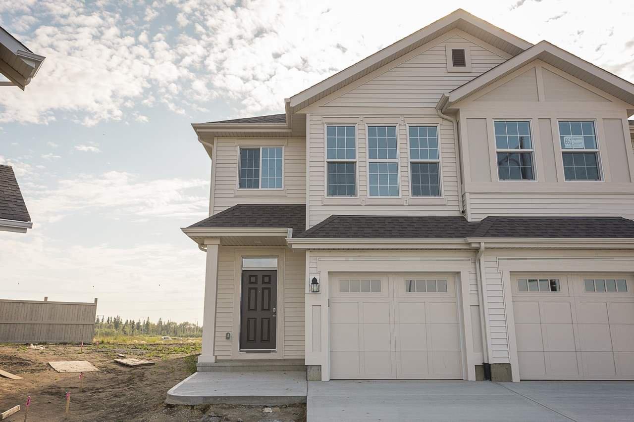Main Photo: 663 Eagleson Crescent in Edmonton: Zone 57 House Half Duplex for sale : MLS®# E4175878