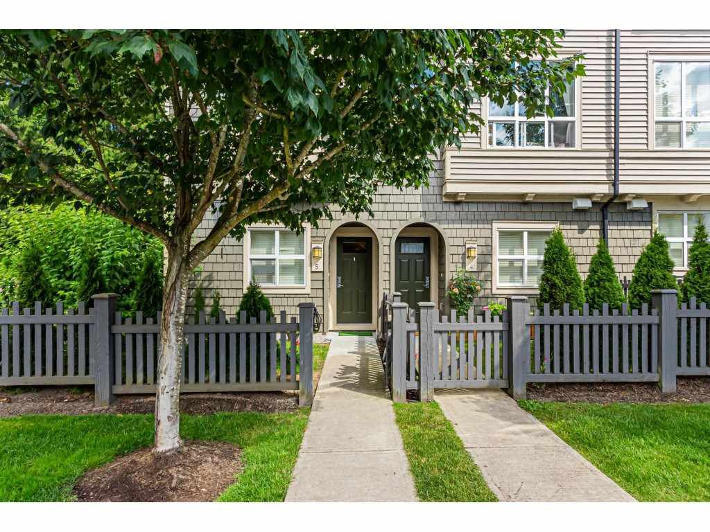 "Main Photo: 5 7938 209 Street in Langley: Willoughby Heights Townhouse for sale in ""Red Maple Park"" : MLS®# R2479120"