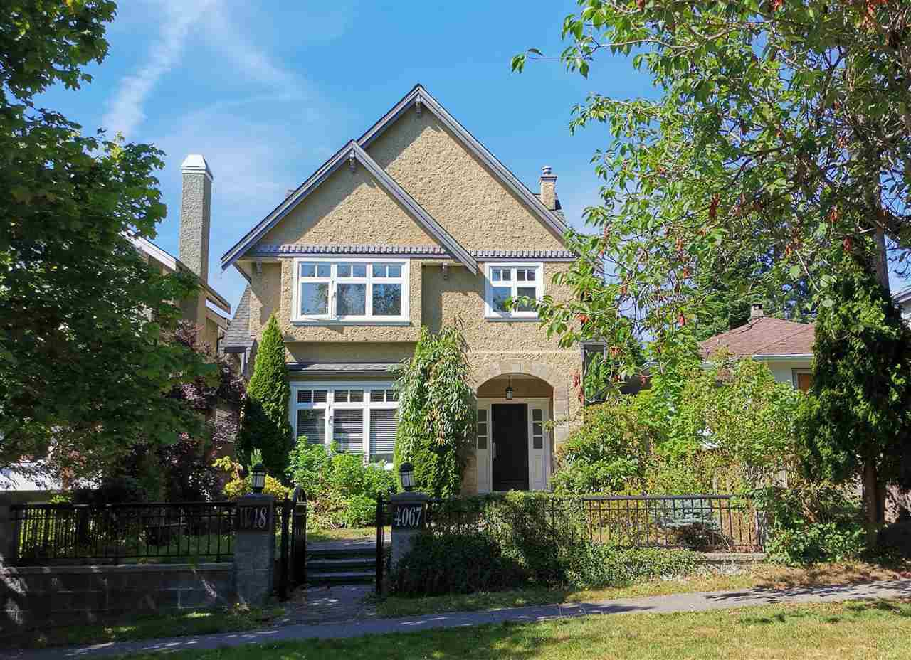 Main Photo: 4067 W 18TH Avenue in Vancouver: Dunbar House for sale (Vancouver West)  : MLS®# R2483226