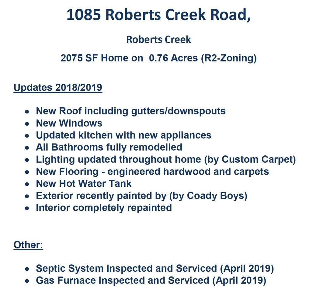Photo 20: Photos: 1085 ROBERTS CREEK Road: Roberts Creek House for sale (Sunshine Coast)  : MLS®# R2392415