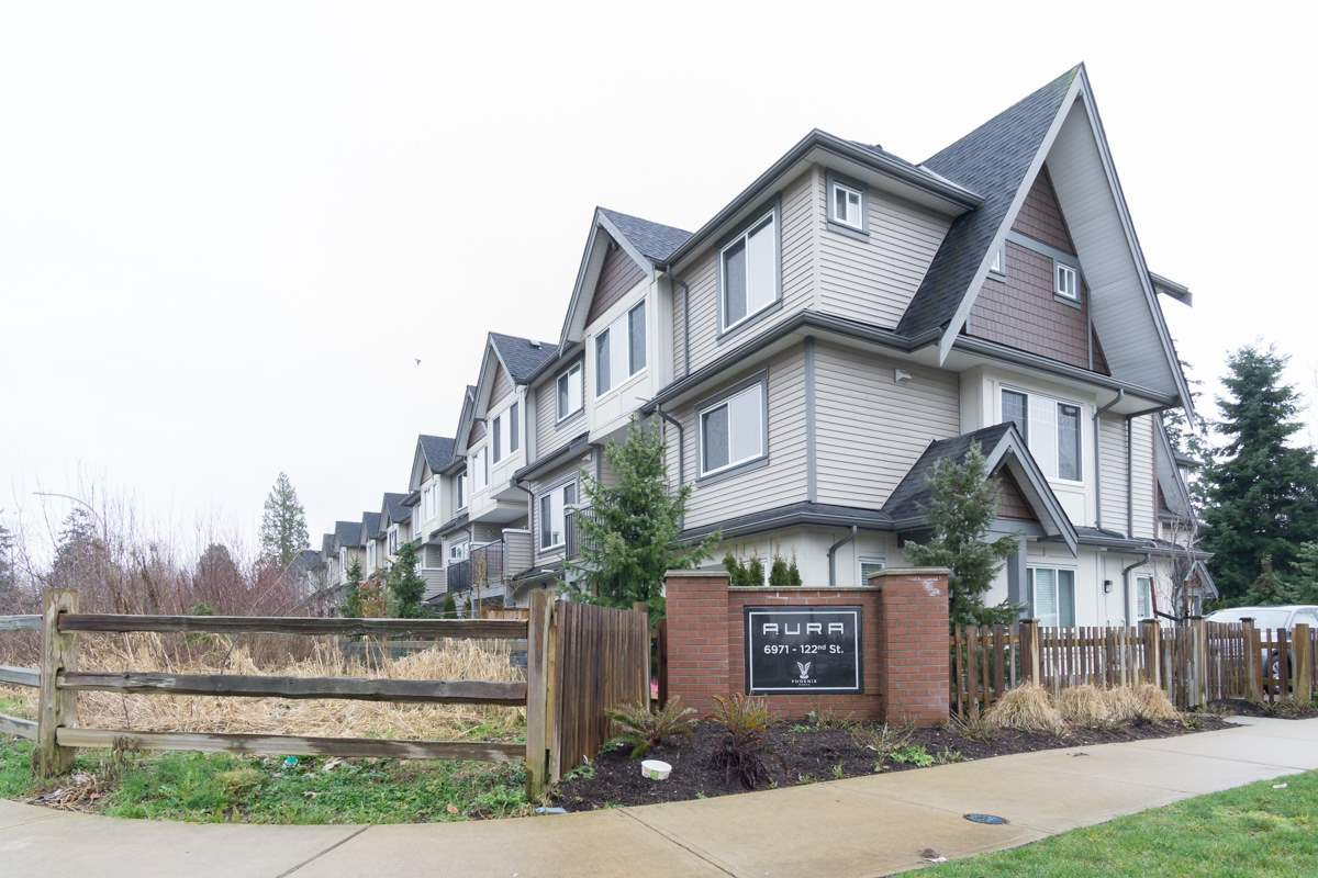 "Main Photo: 30 6971 122 Street in Surrey: West Newton Townhouse for sale in ""Aura"" : MLS®# R2440521"