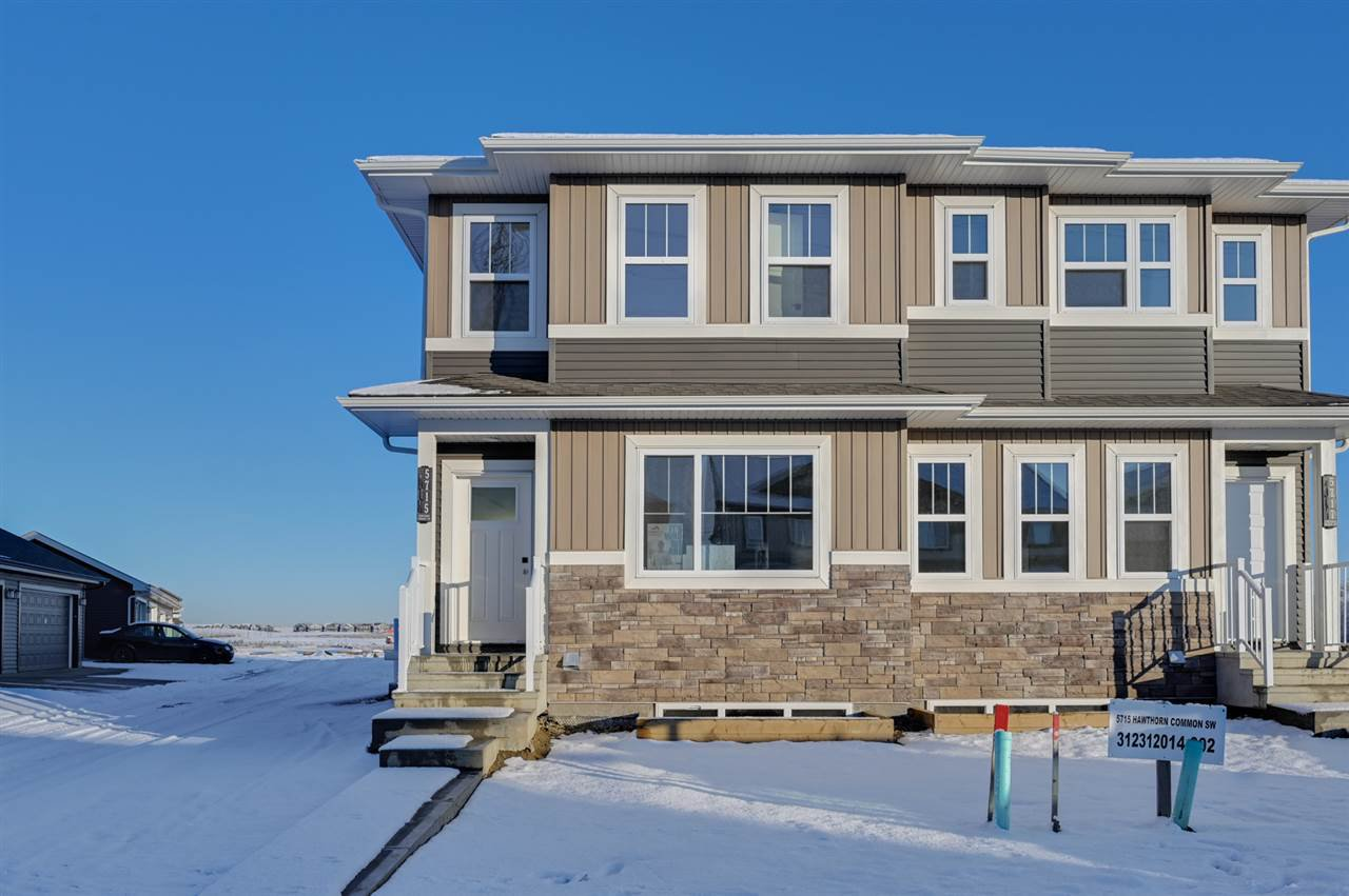 Main Photo: 5717 Hawthorn Common SW in Edmonton: Zone 53 House Half Duplex for sale : MLS®# E4179820