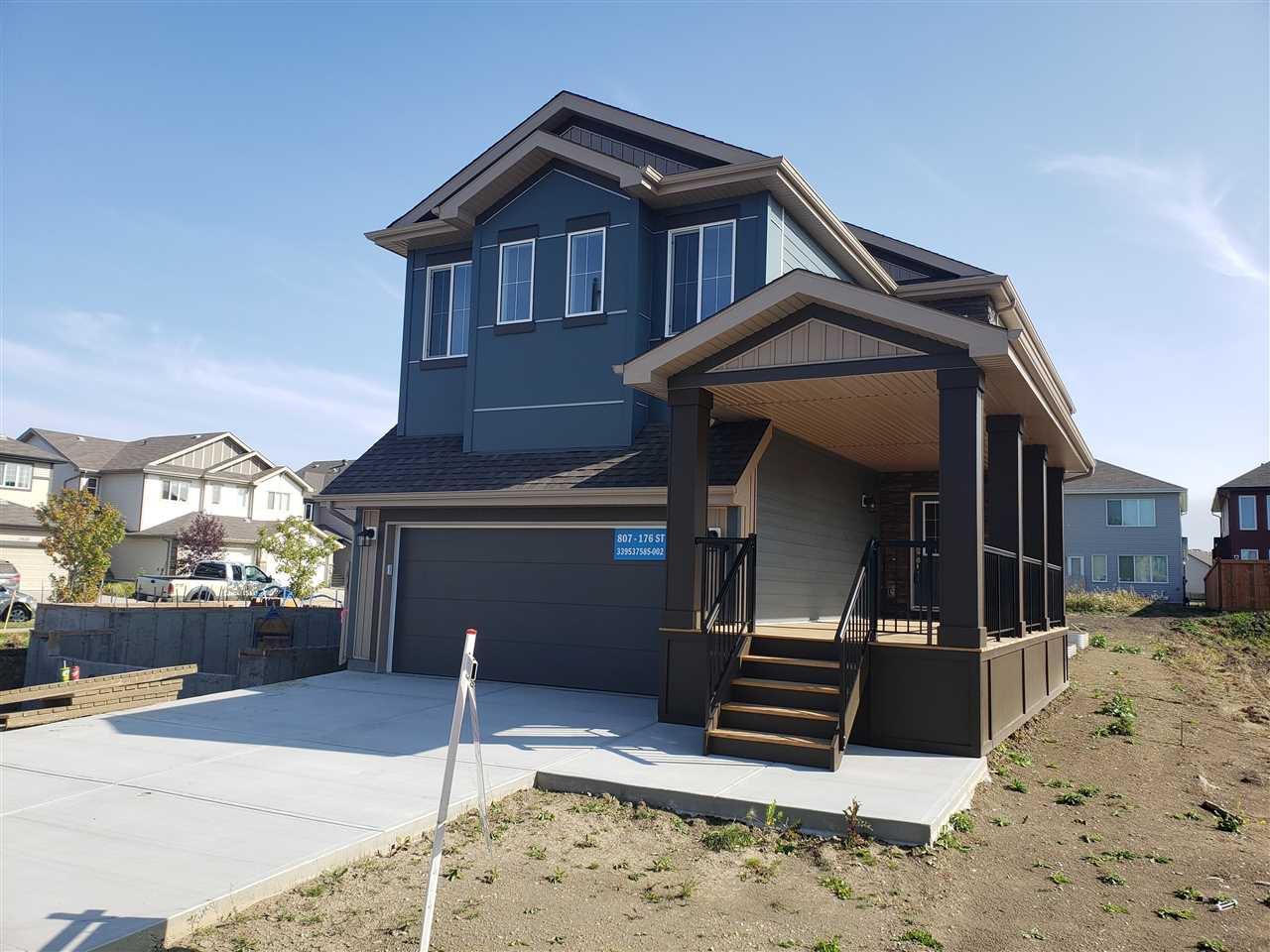 Main Photo: 807 176 Street in Edmonton: Zone 56 House for sale : MLS®# E4218613