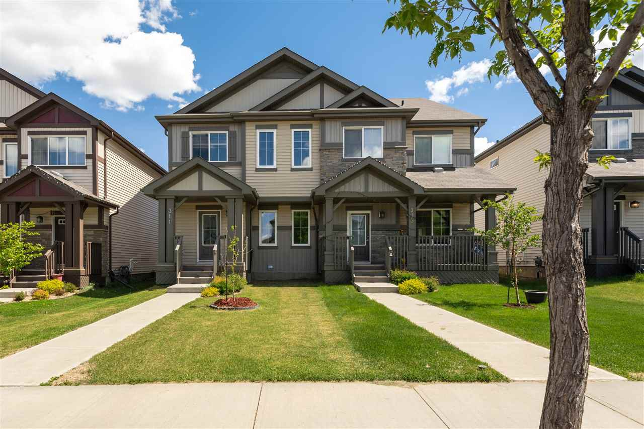 Main Photo: 311 WATT Boulevard in Edmonton: Zone 53 House Half Duplex for sale : MLS®# E4201536