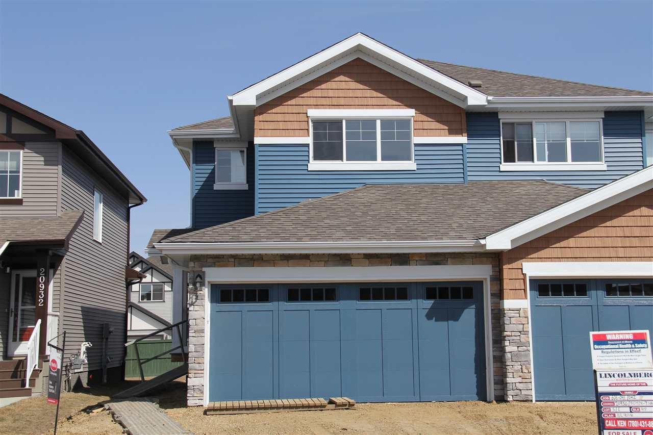 Main Photo: 20930 95 Avenue in Edmonton: Zone 58 House Half Duplex for sale : MLS®# E4192775