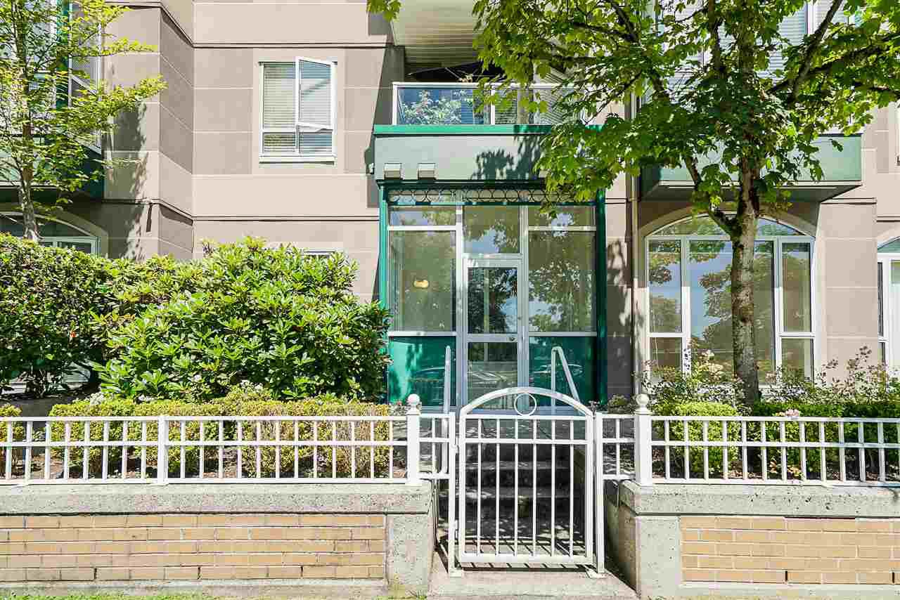 "Main Photo: 102 3463 CROWLEY Drive in Vancouver: Collingwood VE Condo for sale in ""Macgregor Court"" (Vancouver East)  : MLS®# R2498369"