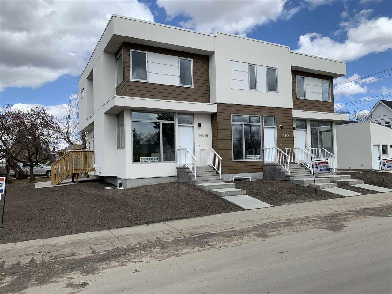 Main Photo: 14810 98 Avenue in Edmonton: Zone 10 Townhouse for sale : MLS®# E4194020