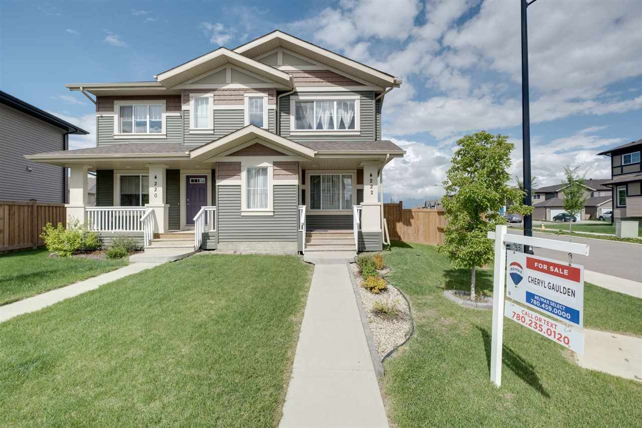 Main Photo: 4222 Prowse Way in Edmonton: Zone 55 House Half Duplex for sale : MLS®# E4200194