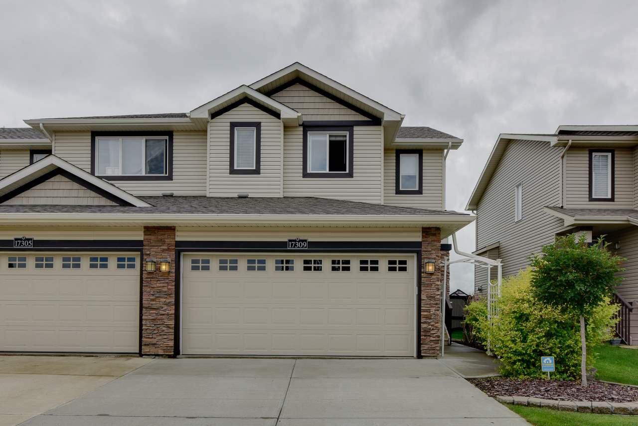 Main Photo: 17309 8A Avenue in Edmonton: Zone 56 House Half Duplex for sale : MLS®# E4207504