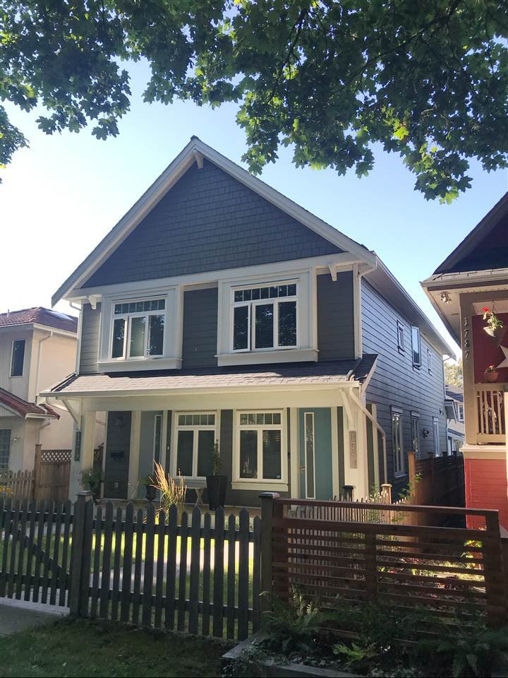Main Photo: 1781 E 13TH AVENUE in Vancouver: Grandview Woodland 1/2 Duplex for sale (Vancouver East)  : MLS®# R2488431