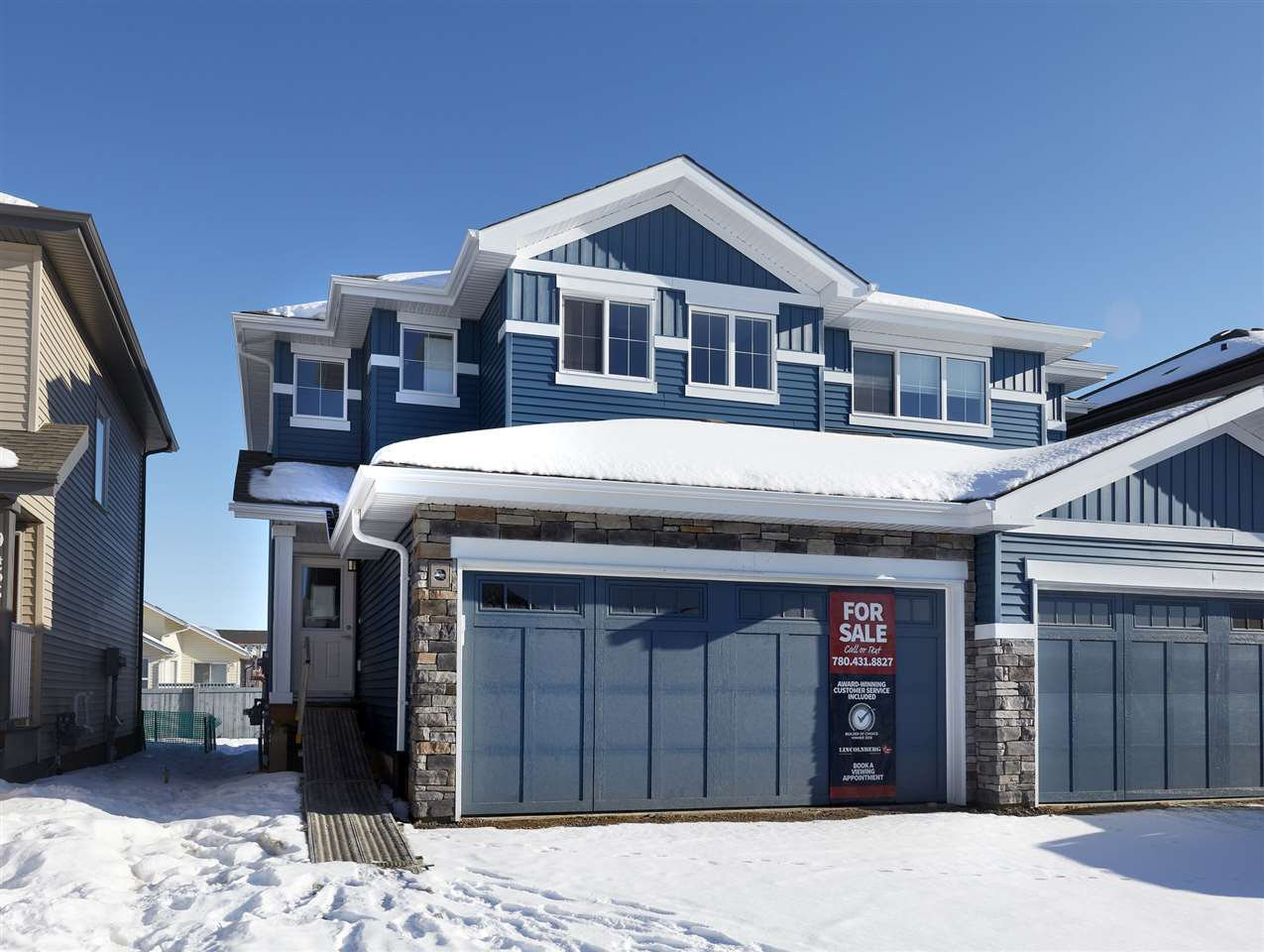 Main Photo: 9431 209 Street in Edmonton: Zone 58 House Half Duplex for sale : MLS®# E4187023