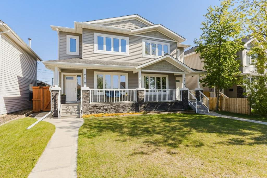 Main Photo: 7410 81 Avenue in Edmonton: Zone 17 House Half Duplex for sale : MLS®# E4172843