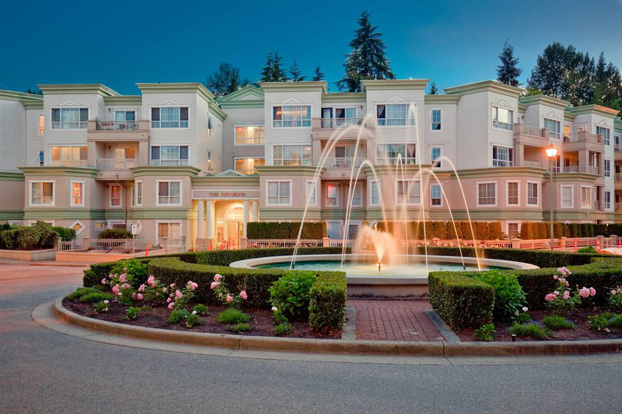 "Main Photo: 211 2960 PRINCESS Crescent in Coquitlam: Canyon Springs Condo for sale in ""THE JEFFERSON"" : MLS®# R2514468"