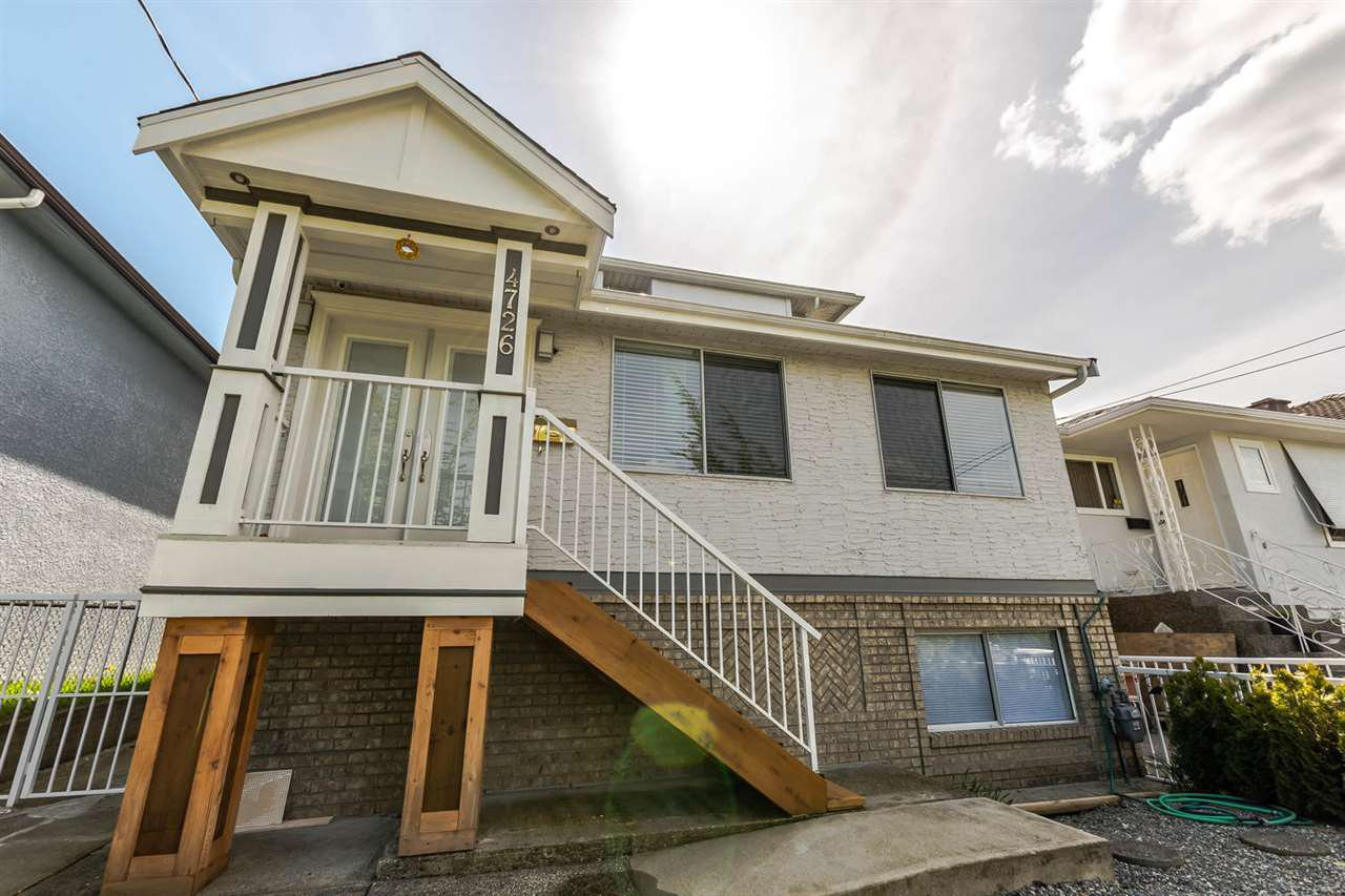 Main Photo: 4726 KILLARNEY STREET in Vancouver: Collingwood VE House for sale (Vancouver East)  : MLS®# R2162113