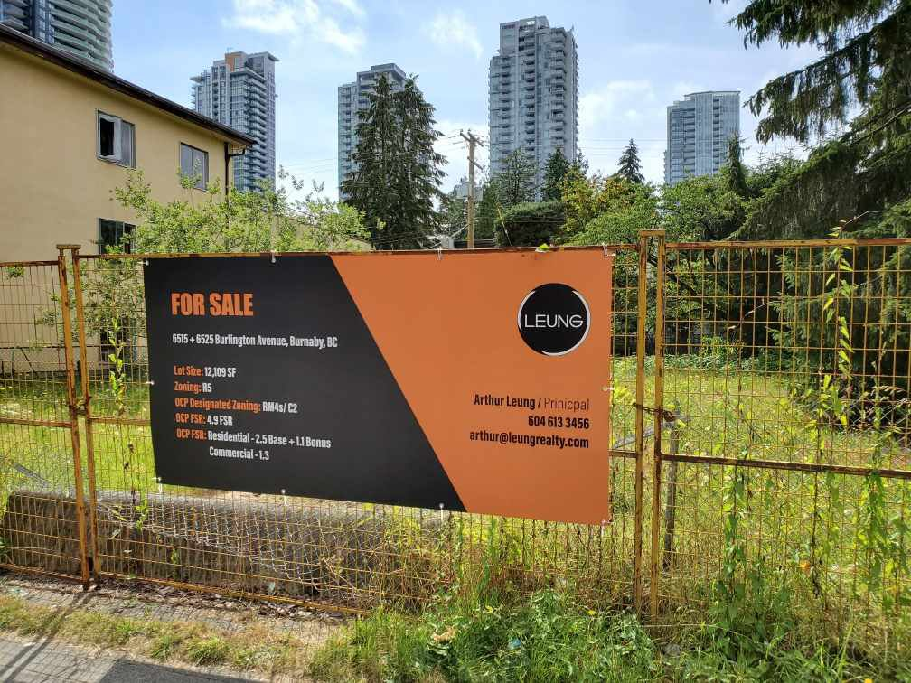 Main Photo: 6525 BURLINGTON Avenue in Burnaby: Metrotown Land Commercial for sale (Burnaby South)  : MLS®# C8033425