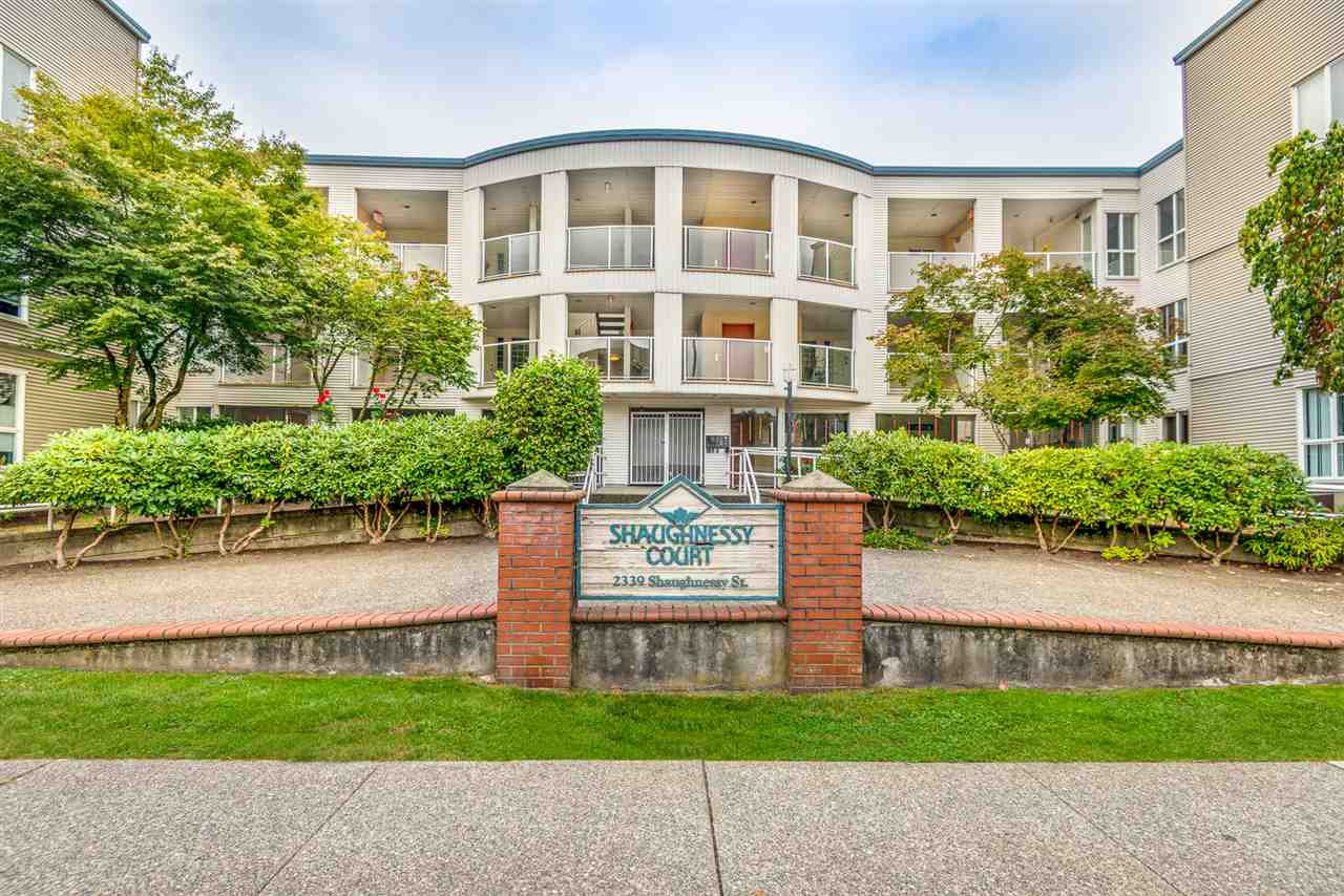 """Main Photo: 311 2339 SHAUGHNESSY Street in Port Coquitlam: Central Pt Coquitlam Condo for sale in """"SHAUGHNESSY COURT"""" : MLS®# R2499242"""
