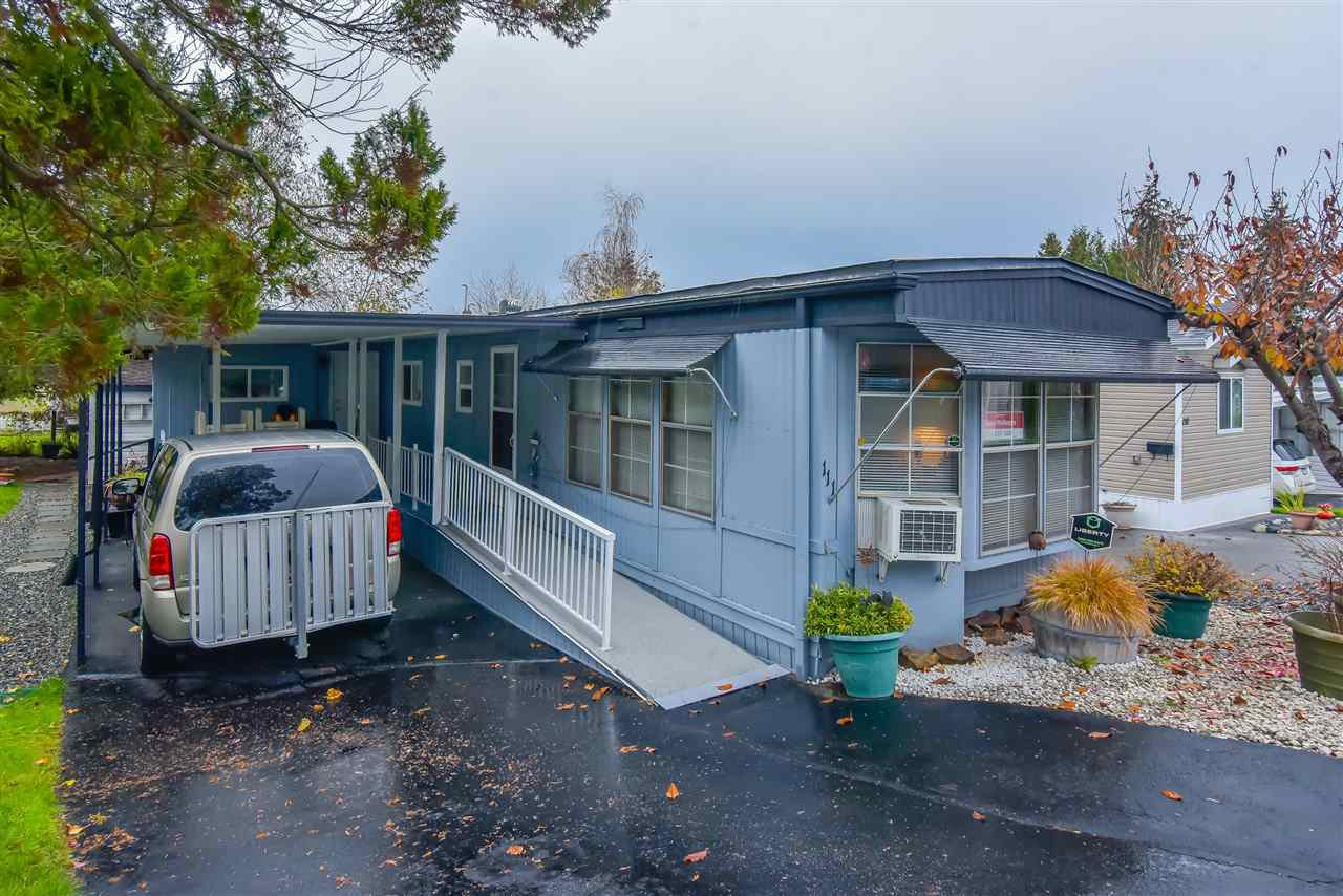 Main Photo: 111 8220 KING GEORGE Boulevard in Surrey: Bear Creek Green Timbers Manufactured Home for sale : MLS®# R2516723