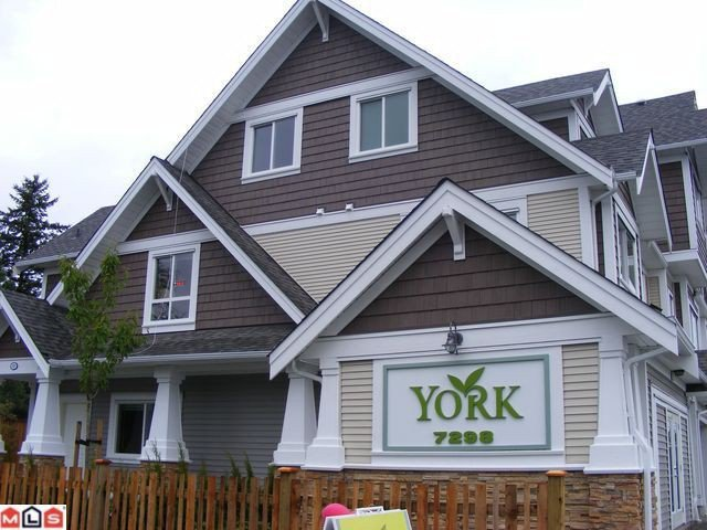 "Main Photo: # 9 7298 199A ST in Langley: Willoughby Heights Condo for sale in ""YORK"" : MLS®# F1015159"