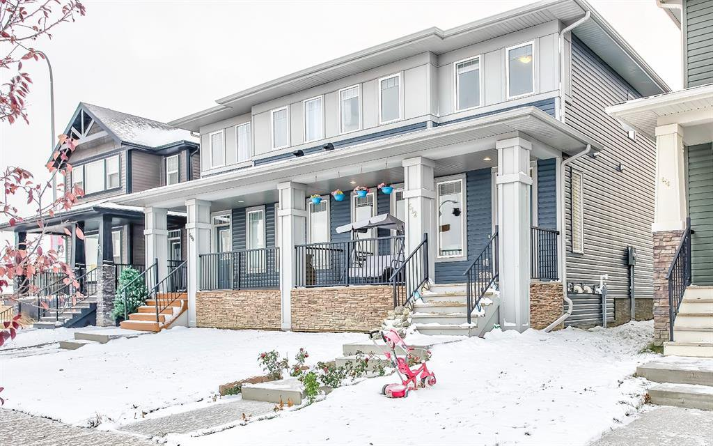 Main Photo: 512 Evanston Link NW in Calgary: Evanston Semi Detached for sale : MLS®# A1041467