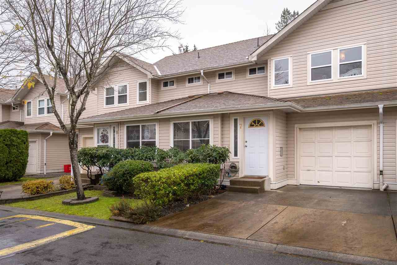 "Main Photo: 7 11870 232 Street in Maple Ridge: Cottonwood MR Townhouse for sale in ""Alouette Estates"" : MLS®# R2521494"