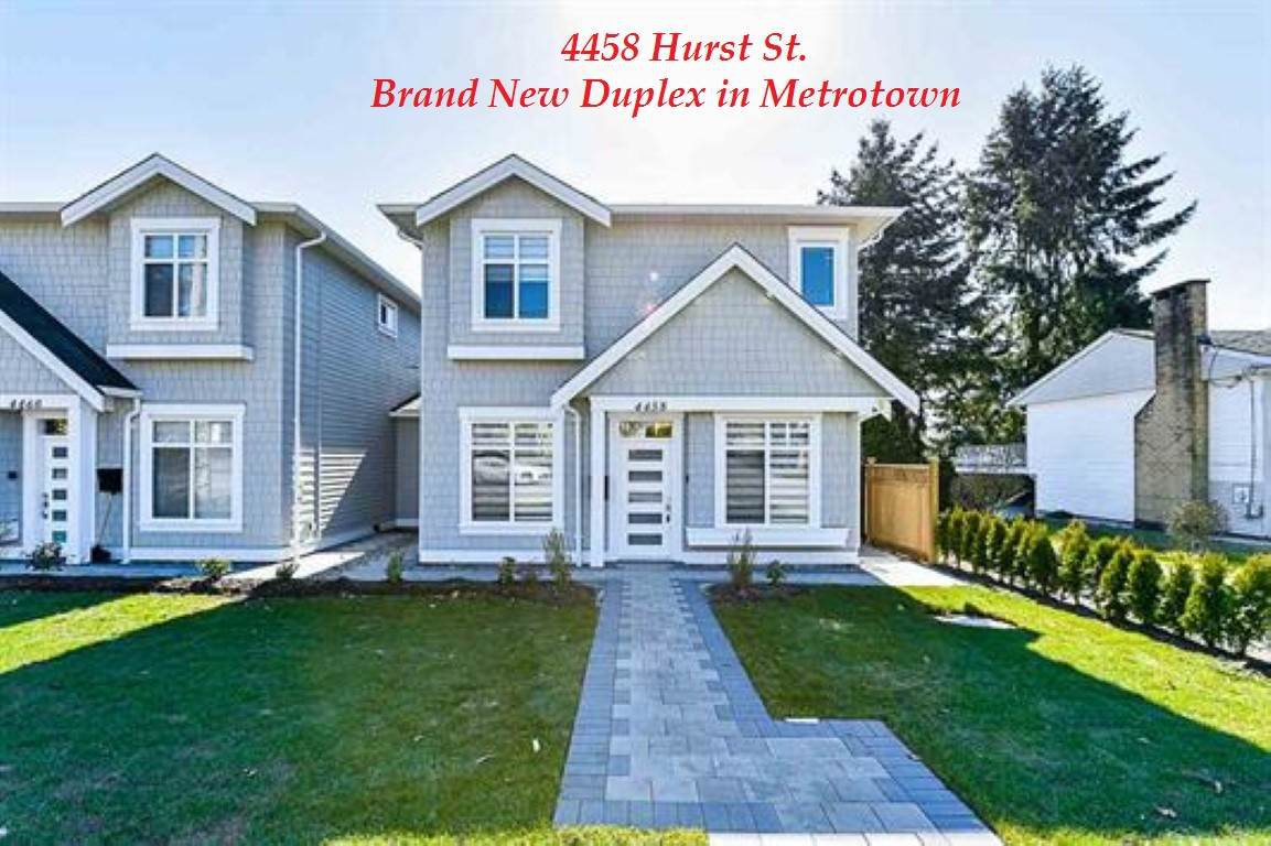 Main Photo: 4458 HURST Street in Burnaby: Metrotown House 1/2 Duplex for sale (Burnaby South)  : MLS®# R2417165