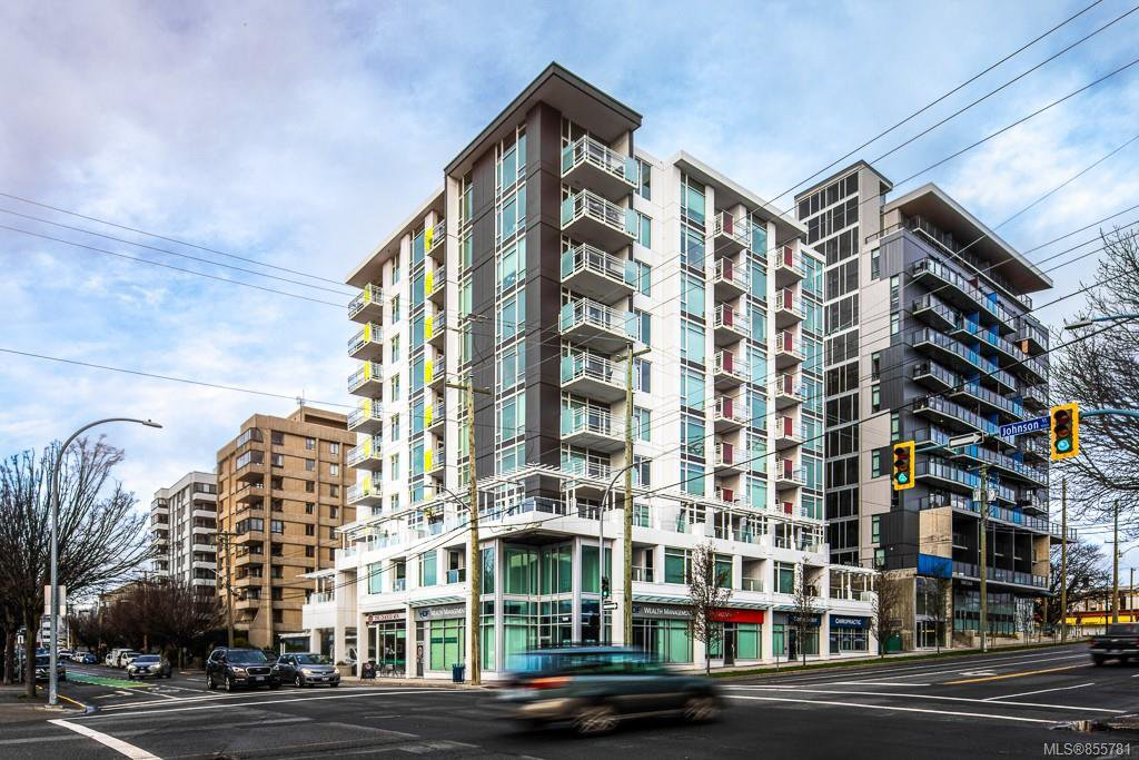 Main Photo: 802 1090 Johnson St in : Vi Downtown Condo Apartment for sale (Victoria)  : MLS®# 855781