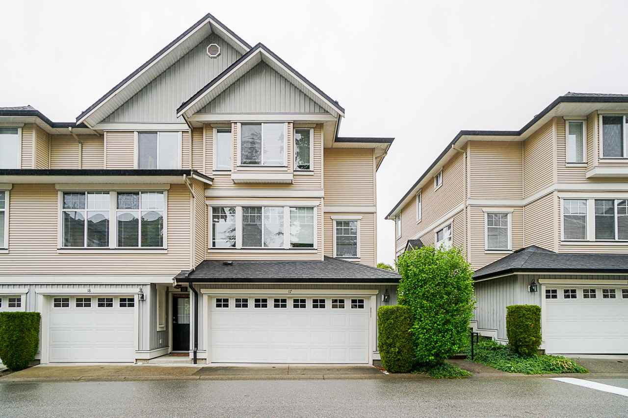 "Main Photo: 17 8383 159 Street in Surrey: Fleetwood Tynehead Townhouse for sale in ""Avalon Woods"" : MLS®# R2468158"