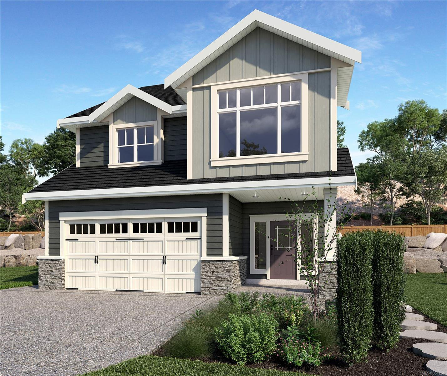 Rendering of similar home with similar plan. Not actual home, construction/colour will vary.