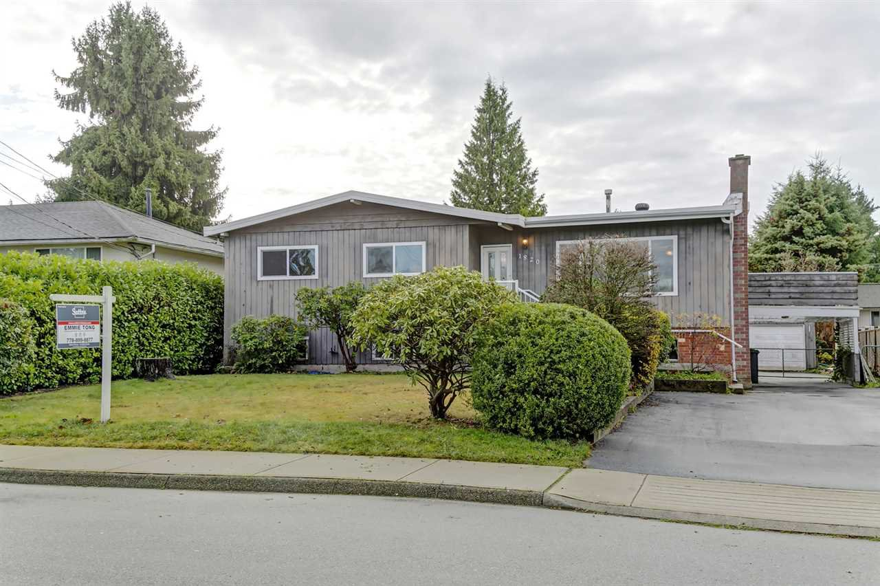 Main Photo: 1820 GROVER Avenue in Coquitlam: Central Coquitlam House for sale : MLS®# R2420677