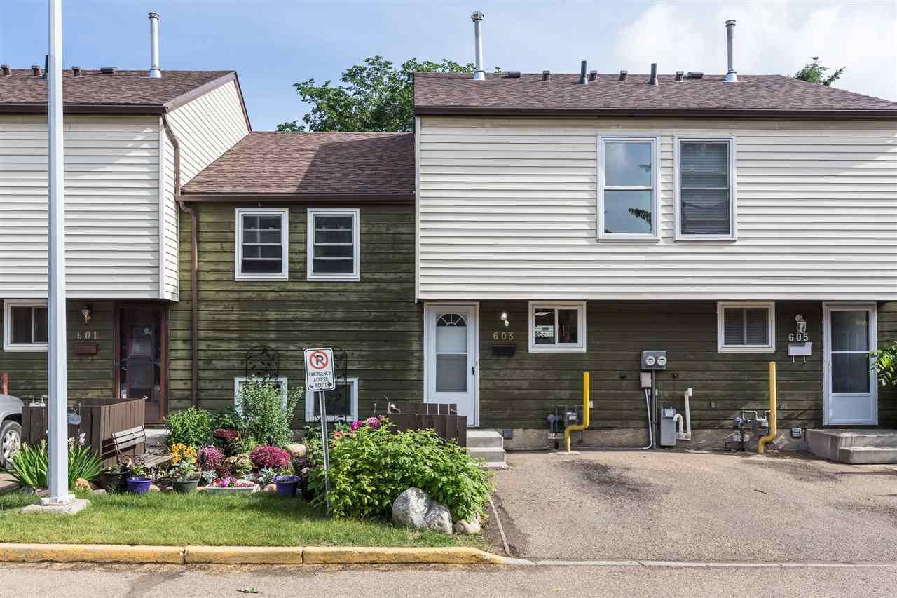 Main Photo: 603 ABBOTTSFIELD Road in Edmonton: Zone 23 Townhouse for sale : MLS®# E4212600