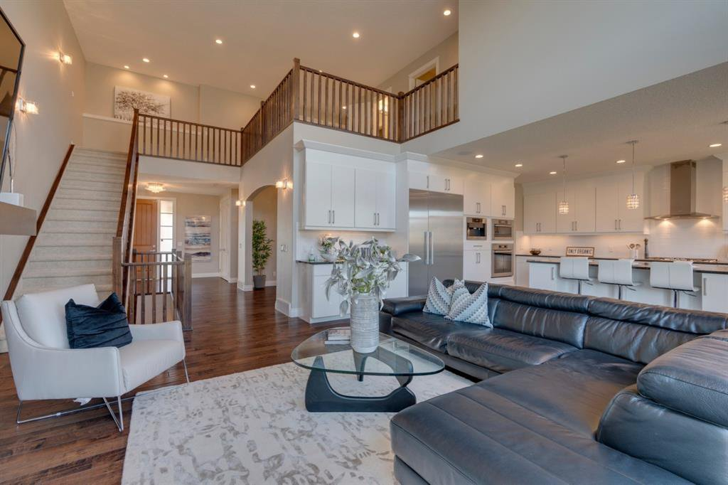 Spacious two storey great room next to chef's kitchen