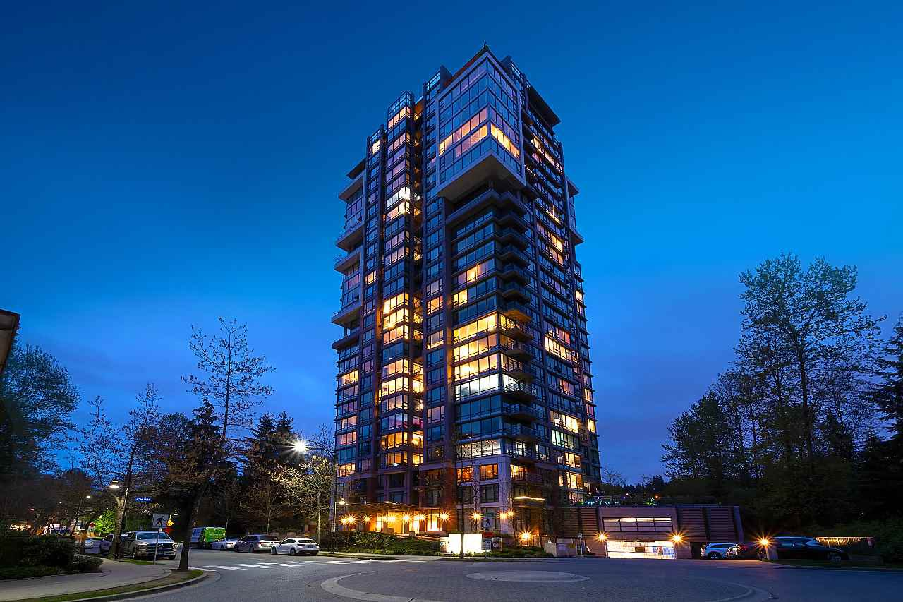 "Main Photo: 1002 301 CAPILANO Road in Port Moody: Port Moody Centre Condo for sale in ""The Residences at Suter Brook"" : MLS®# R2468110"