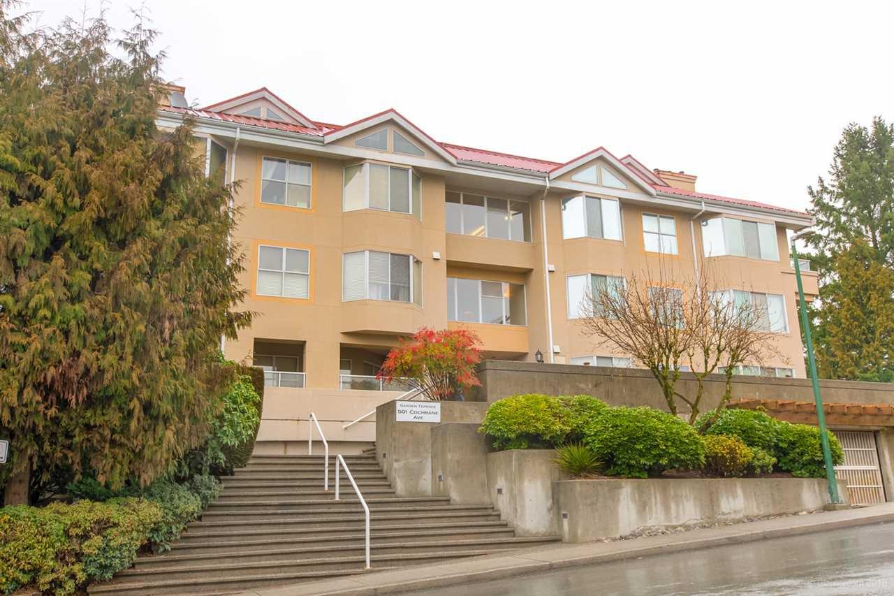 "Main Photo: 103 501 COCHRANE Avenue in Coquitlam: Coquitlam West Condo for sale in ""GARDEN TERRACE"" : MLS®# R2527139"