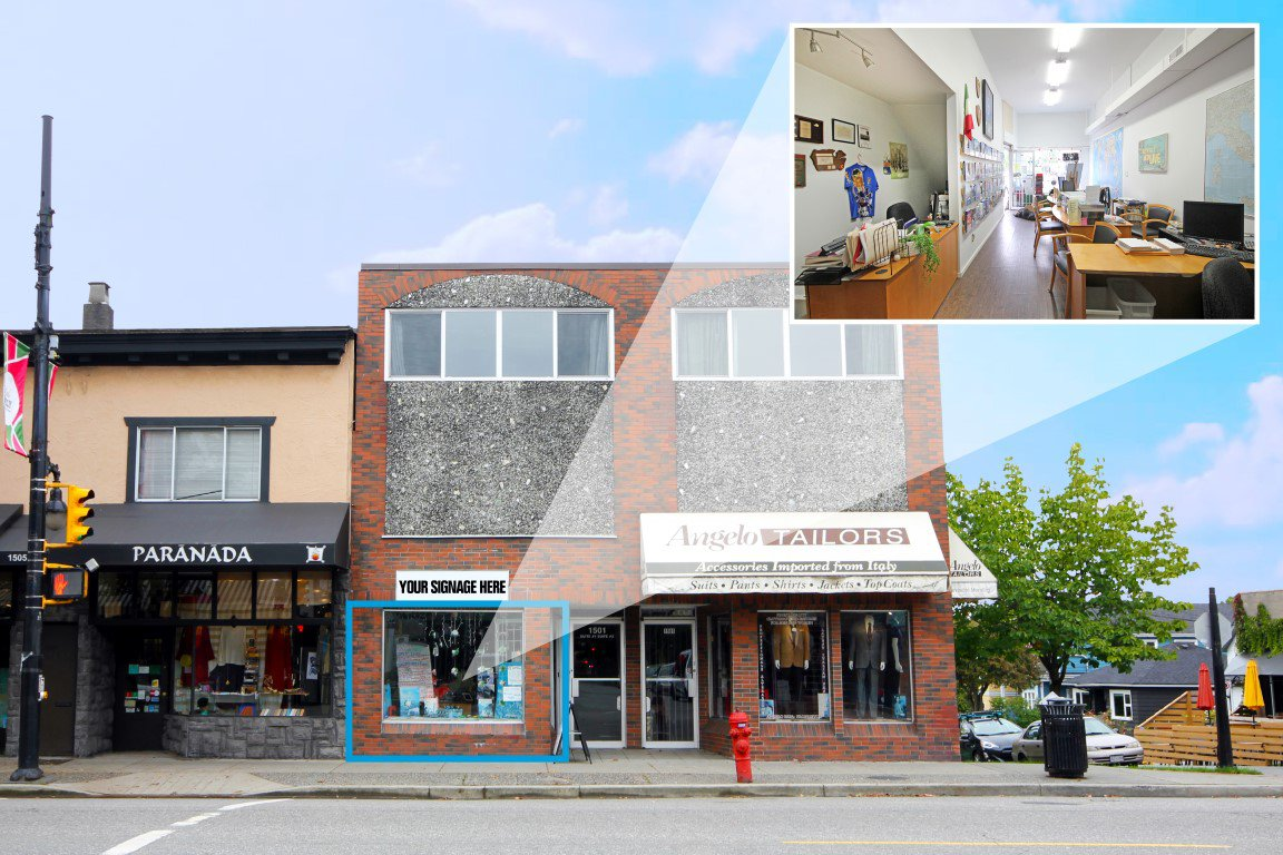 Main Photo: 1503 Commercial Dr. in Vancouver: Grandview Woodland Commercial for lease (Vancouver East)