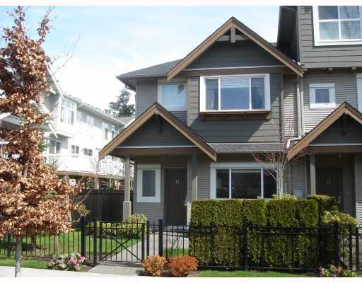 "Main Photo: 13 7733 HEATHER Street in Richmond: McLennan North Townhouse for sale in ""HEARTSTONE"" : MLS®# V701542"