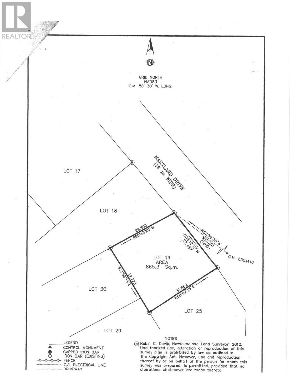 Main Photo: Lot 19 Maryland Drive in Stephenville: Vacant Land for sale : MLS®# 1195548